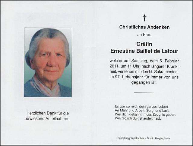 komtesa Ernestine Helene Baillet de Latour-parte