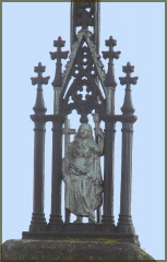 detail kříže Kozmice