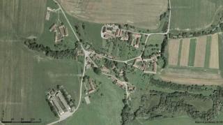 letecký snímek Lažany