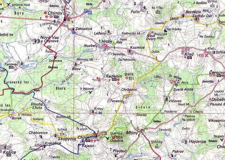 mapa Mlýny
