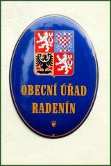 znak - obecní úřad Radenín